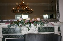 Mantelpiece flower arrangement at HIghfield Park