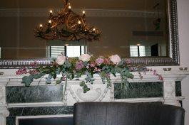 Mantelpiece flower arrangement at HIghfield Park