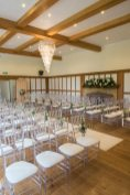 Ceremony room flowers at Silchester House