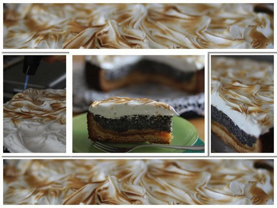 Mohn-Marzipan Kuchen mit Baiser