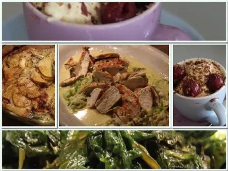 Jamie Oliver 30 Minuten Menü- Hähnchen mit Senfsauce, Kartoffelgratin, Mangold & ertrunkene Kapuziner