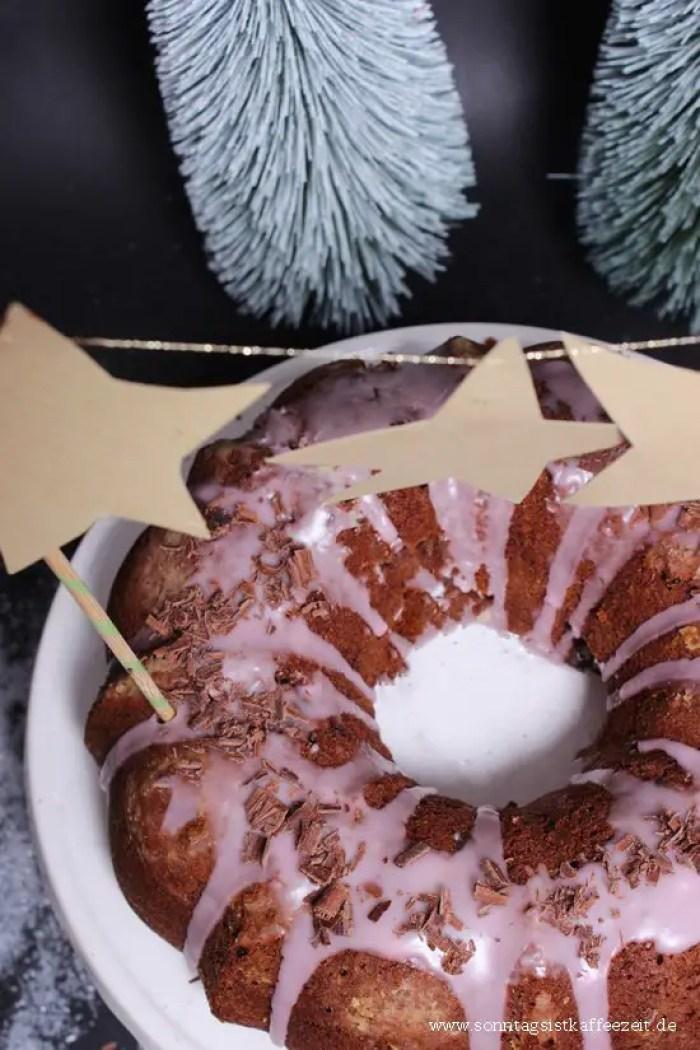 Saftiger Schoko-Gugelhupf mit Glühwein und ein Geschenketipp