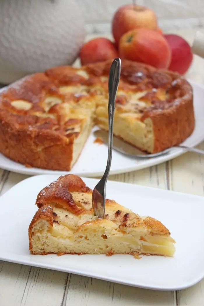 Apfelkuchen mit Skyr - Saftig, einfach und schnell gemacht