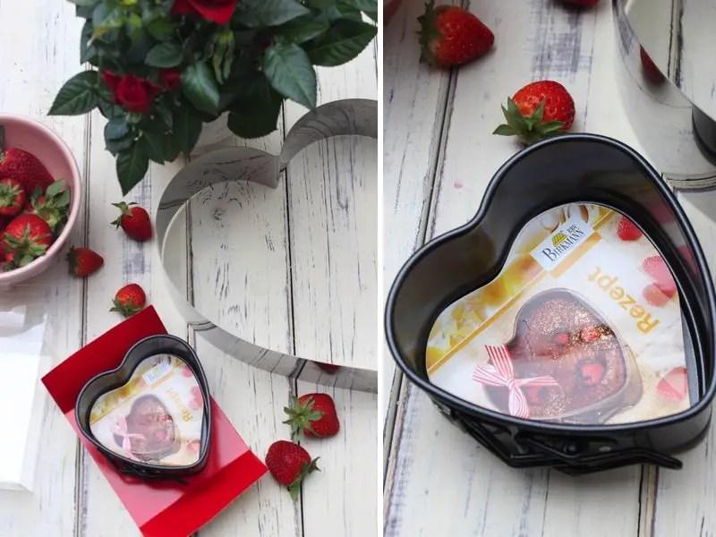 Erdbeer-Joghurt-Holunder-Herztorte zum Muttertag -Birkmann Herz-Springform