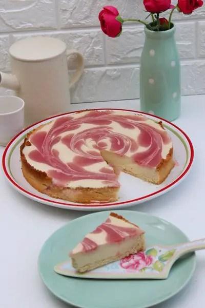 Erdbeer-Mango-Swirl-Cake | 3 Punkte Kuchen von Weight Watchers