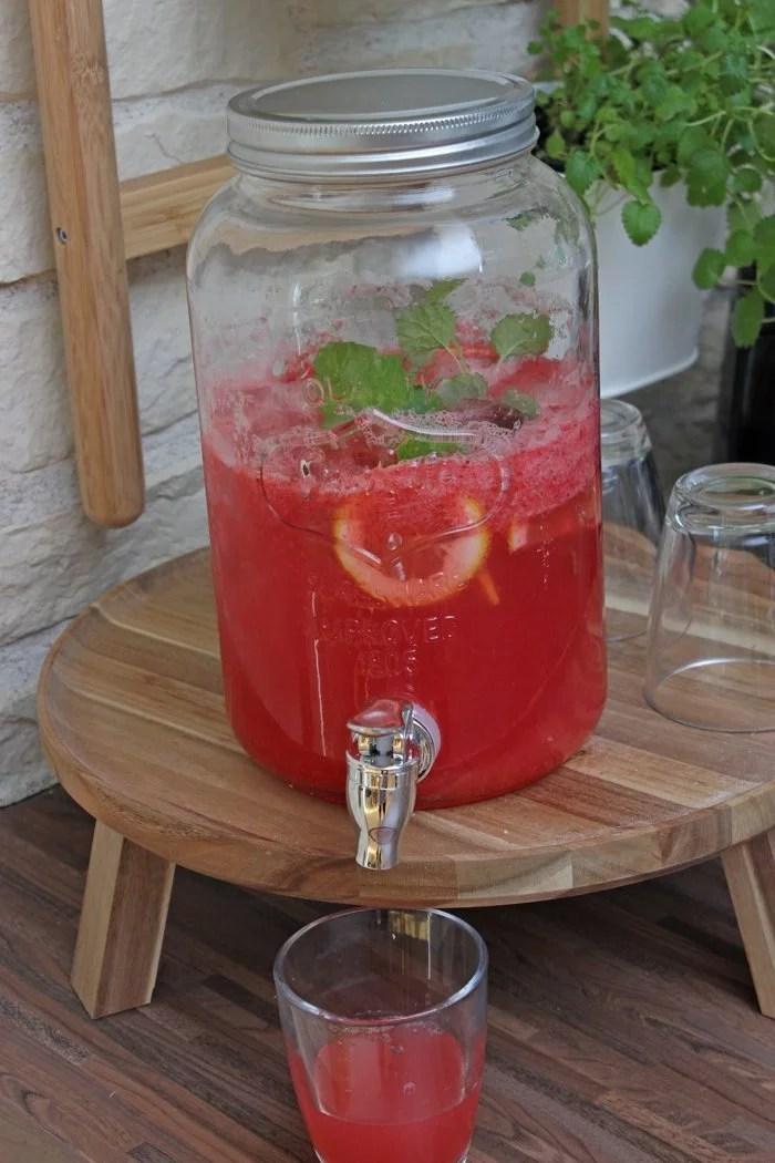 Erdbeer-Zitronen Limonade selber machen