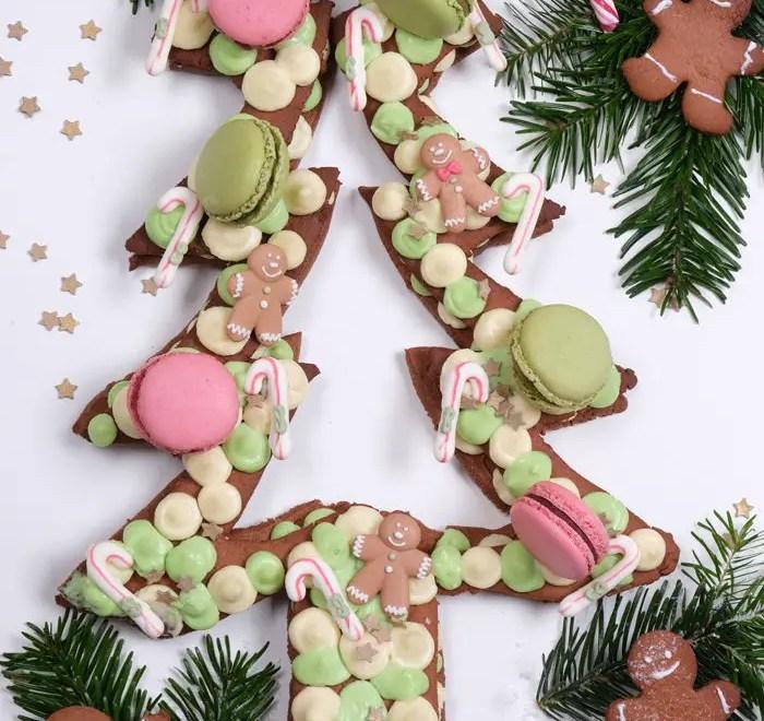 Weihnachtlicher Lebkuchen-Tannenbaum Cake nach Letter Cake-Art