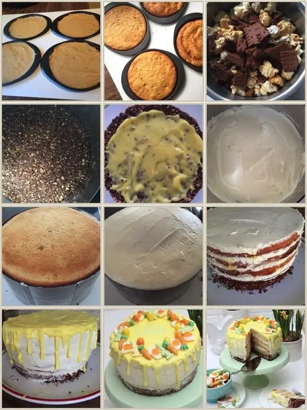 Oster-Torte mit Orangencreme