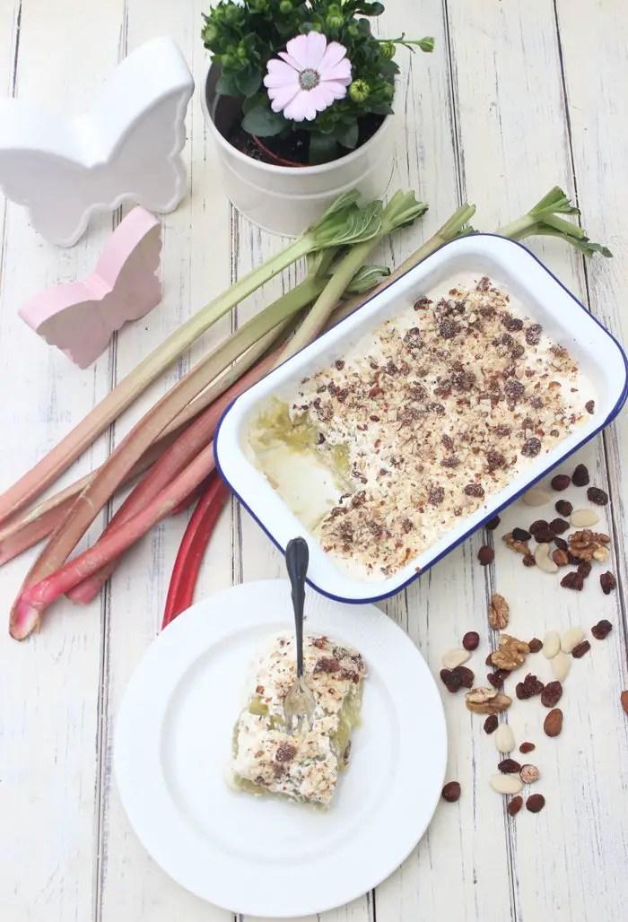 Rhabarber-Lasagne | Fruchtig & Cremig