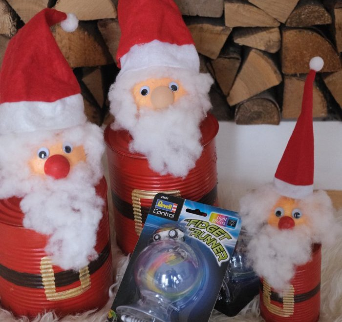 Upcyling – DIY Weihnachtsmanngeschenkdose mit Fidget Runner + Gewinnspiel