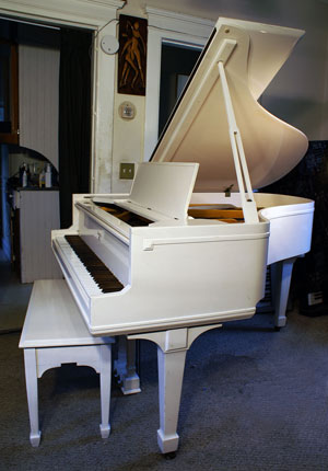 Sohmer Baby Grand White Piano