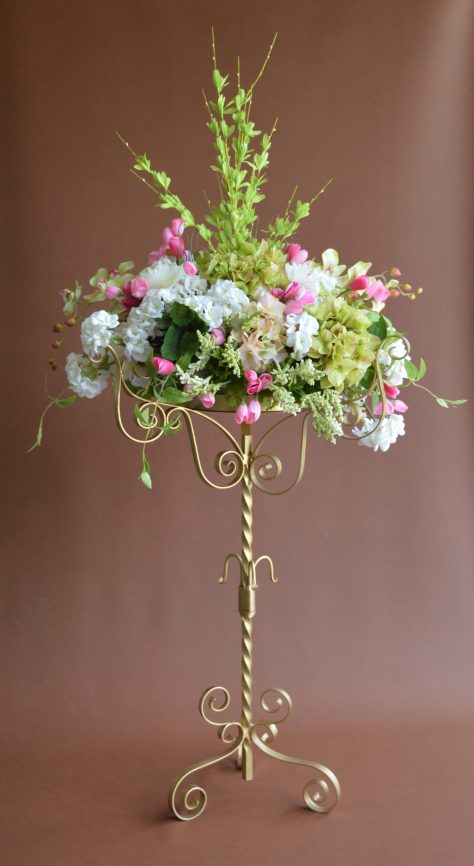Spring Flowers with Gold Stand No Crystals