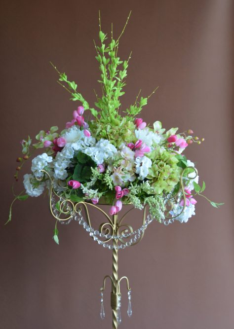 Flower Stand with Crystals