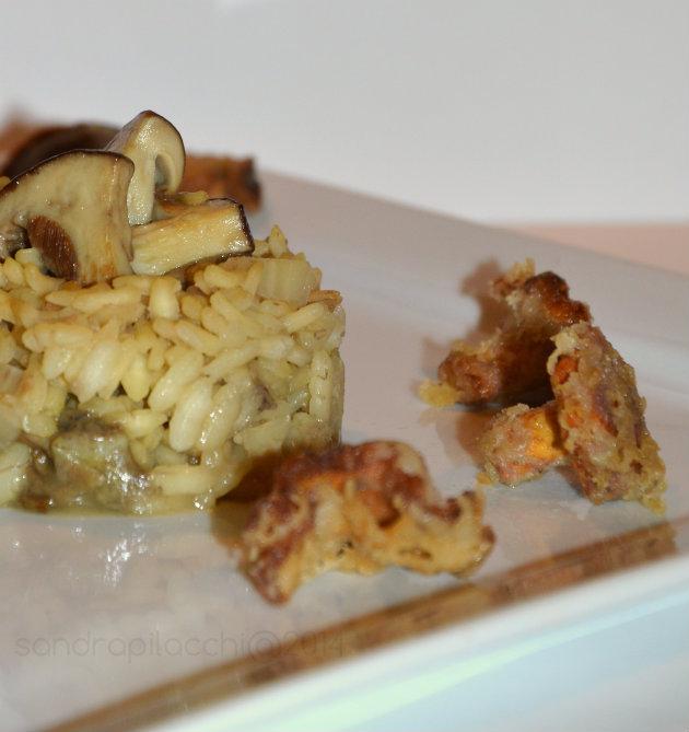 risotto invecchiato porcini galletti