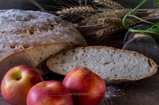 Pane con acqua di pesche