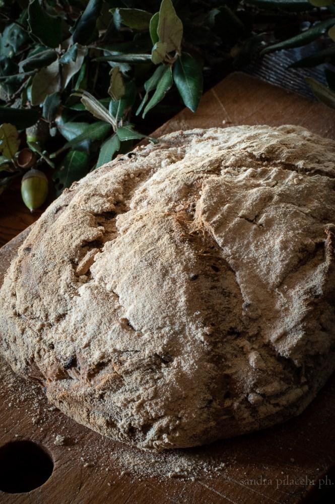 Pane senza impasto  con riso venere