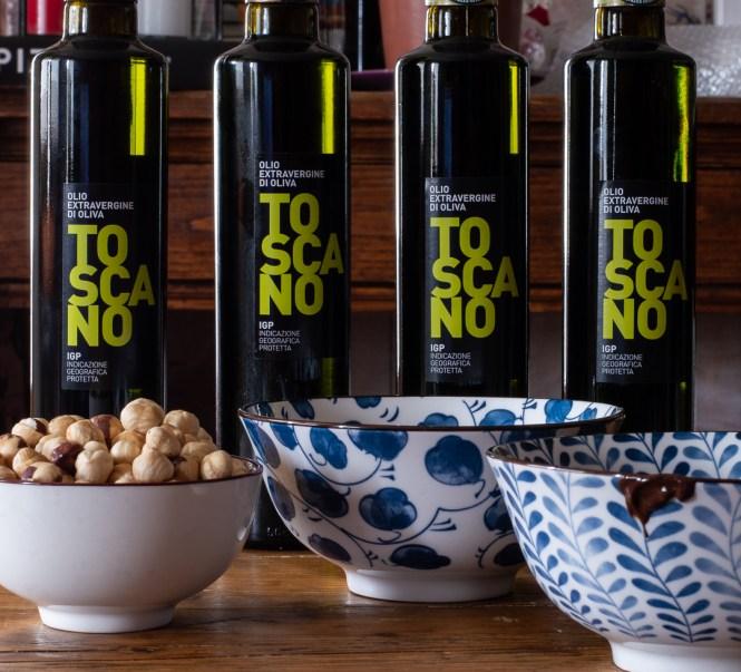 Crema di nocciole e cioccolato all'olio extravergine di oliva IGP TOSCANO