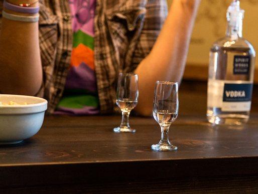 Vodka tasting at Spirit Works