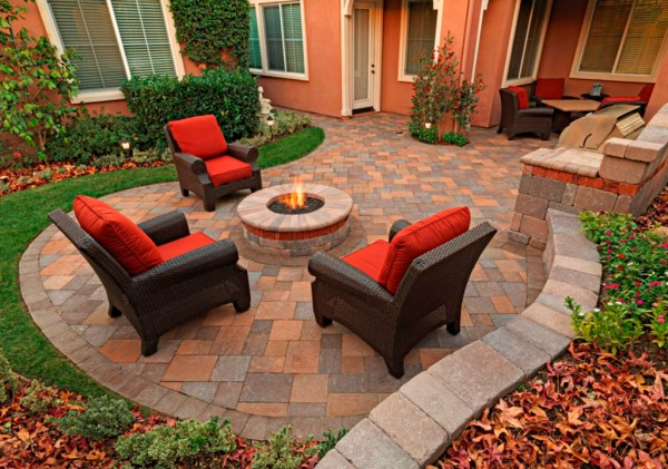 paver patio with fire pit design ideas 5 Gorgeous Outdoor Rooms to Enhance Your Backyard