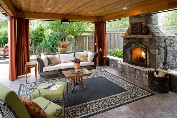 outdoor patio rooms with fireplace 5 Gorgeous Outdoor Rooms to Enhance Your Backyard
