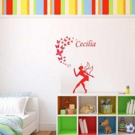 adesivi murali per la cameretta dei bambini. Adesivi Murali Fatina Con Nome Della Bimba Sononato