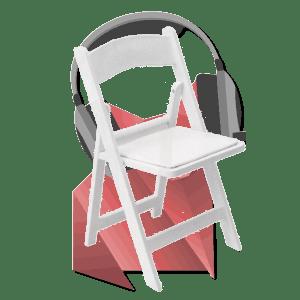location d une chaise pliante wedding blanche