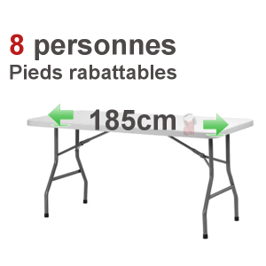 location table rectangulaire 6 8 pers pliante