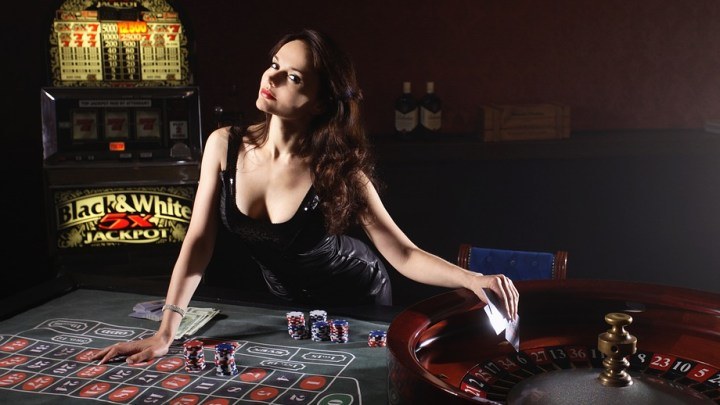woman in casino