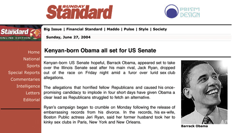 kenyan born obama article