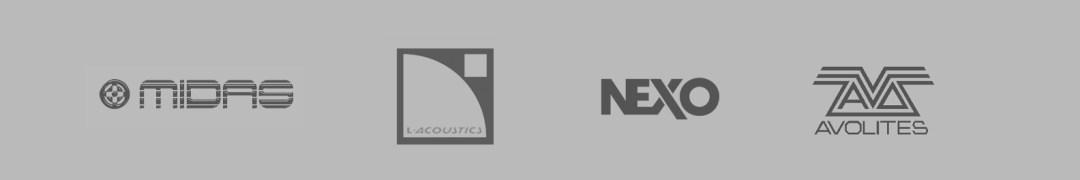 En Sonora tenemos productos de marcas pioneras en el mercado, como son Nexo, L´Acoustics, Midas o Avolites, entre otros.