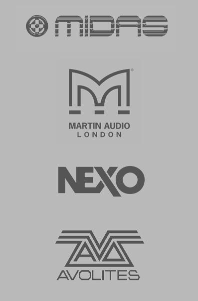 Sonora - primeras marcas de sonido e iluminación, Nexo, Midas o Avolites