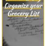 How to Easily Organize your Grocery List