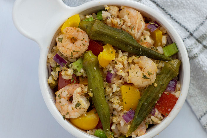 Shrimp and Okra Bowl