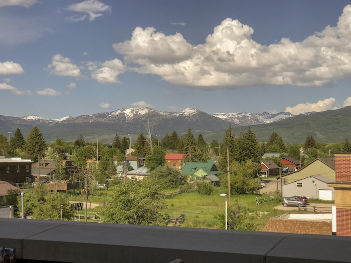 My Vacation in Food: Part 3: View of the Grand Teton Mountains from the rooftop diner