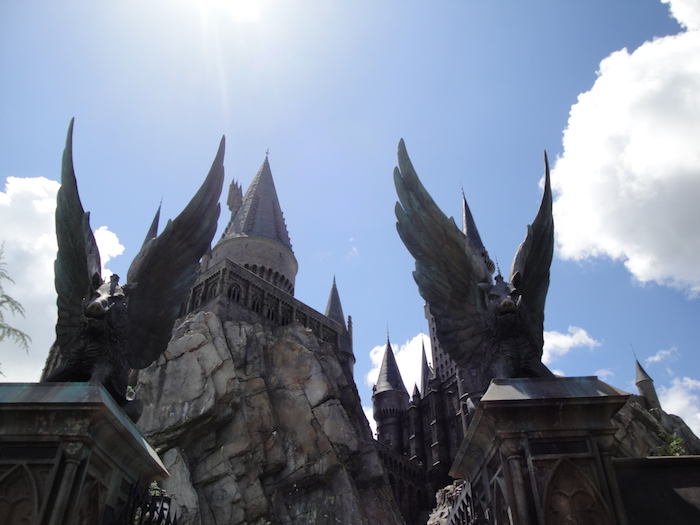 Hogwarts Castle at the Wizarding World of Harry Potter in Orlando, FL