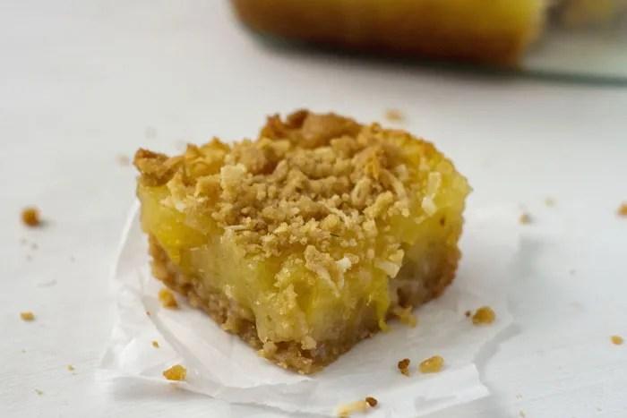 Pineapple Coconut Dessert Bars