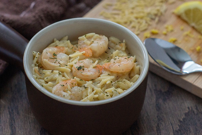 Shrimp Orzo with Lemon