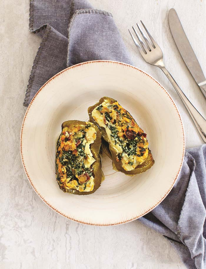 Quiche Stuffed Pepper from The Ultimate Cooking For One Cookbook