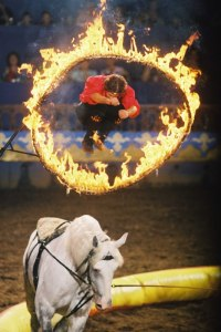 Csaba Szilagyi Jumping through the Fire Hoop