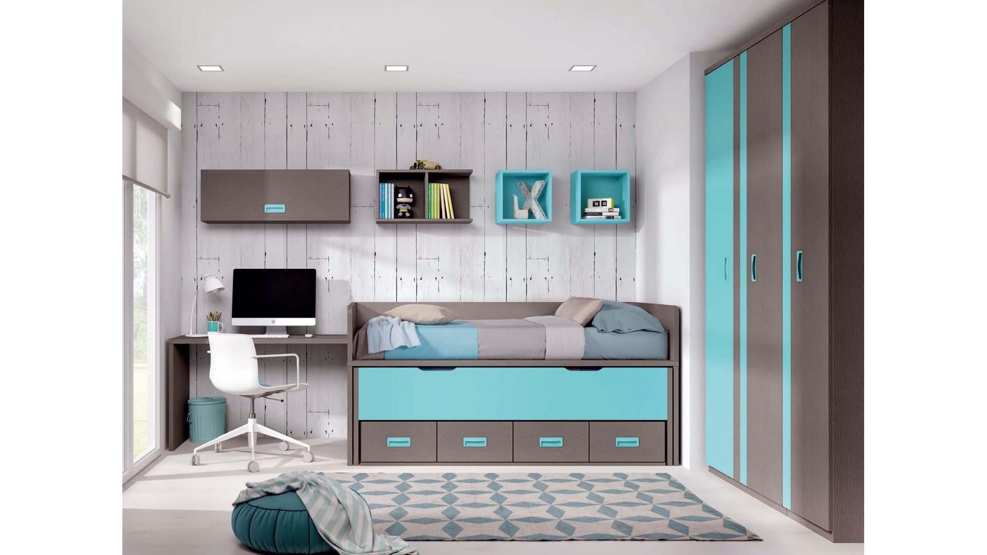 chambre ado avec lit gigogne personnalisable f015 glicerio