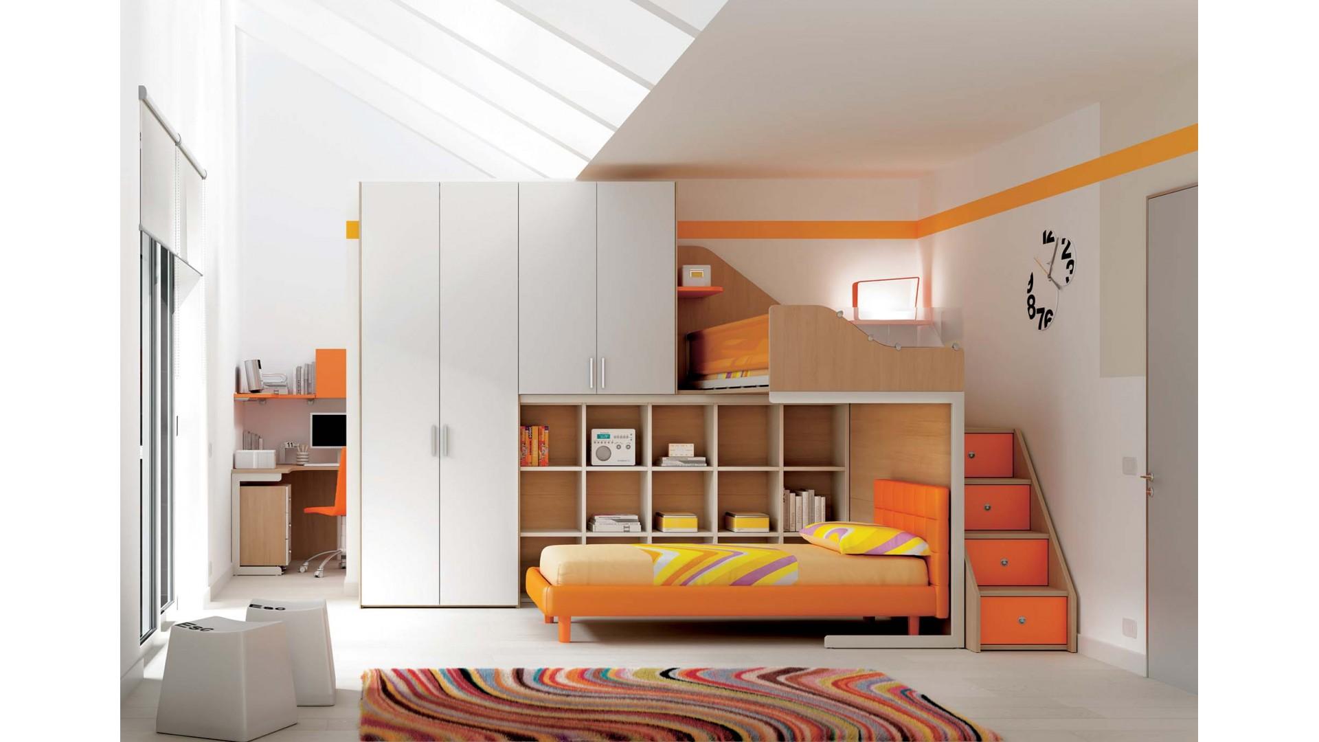 chambre enfant personnalisable ks11 lits superposes en mezzanine moretti compact