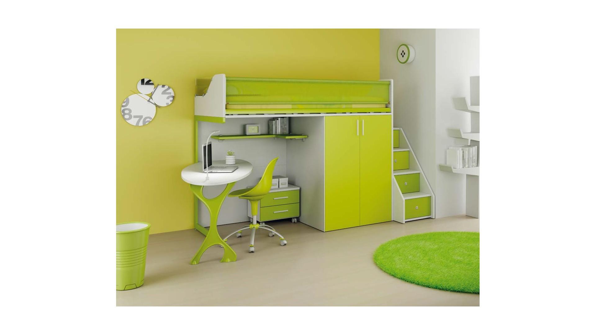 Chambre Enfant Avec Lit Mezzanine Amp Bureau MORETTI