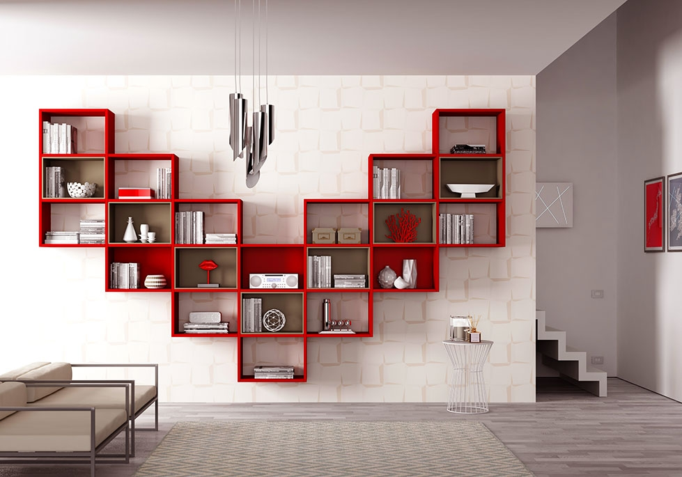 Bibliothque Design En Forme Trs Arienne MORETTI