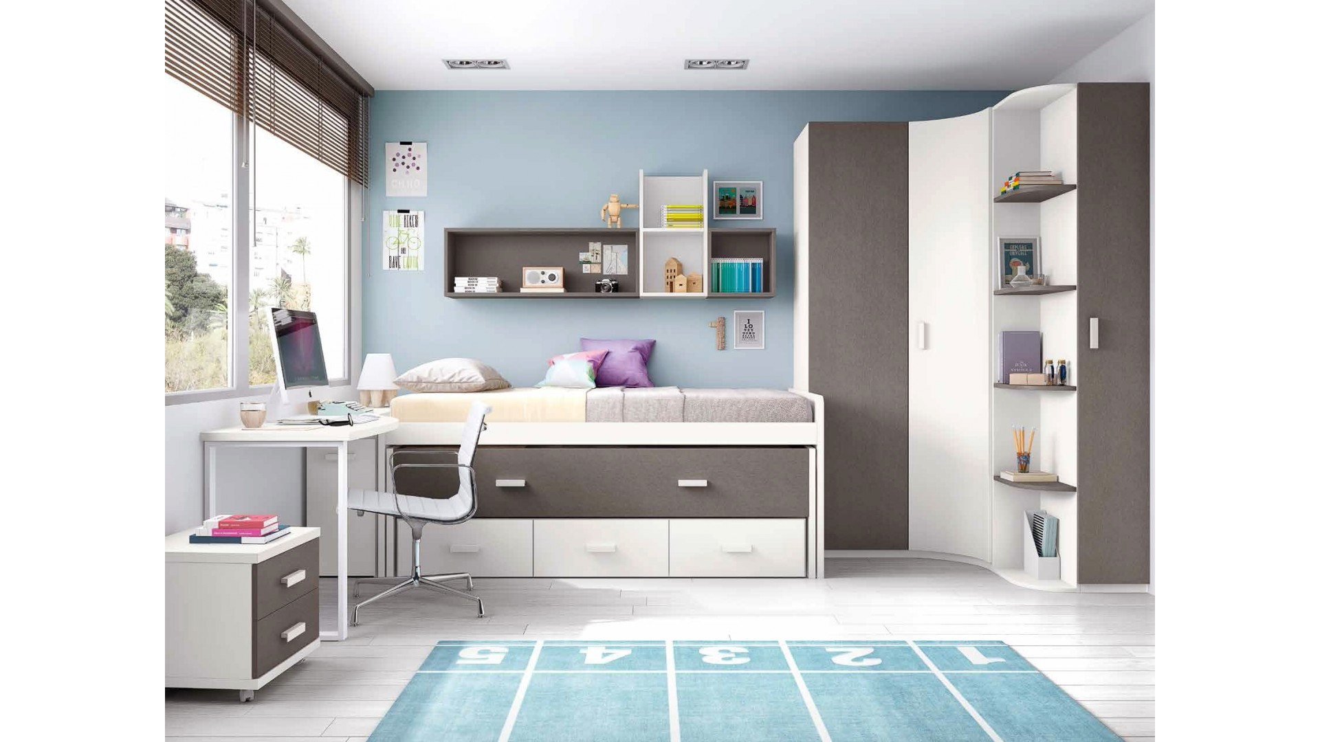 chambre pour ado composition l001 avec lit gigogne glicerio