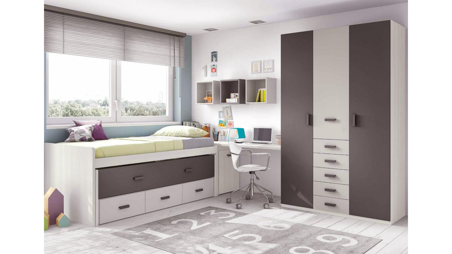 chambre ado garcon composition l010 avec lit gigogne glicerio