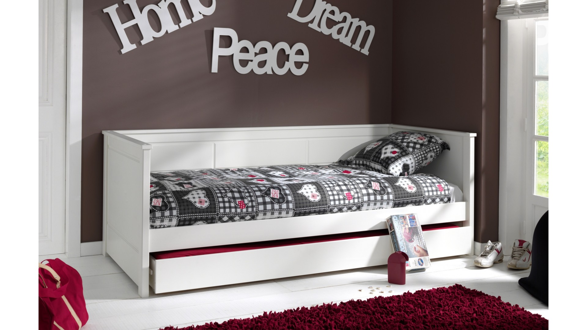 lit enfant bois massif anabelle 90x200 cm sonuit