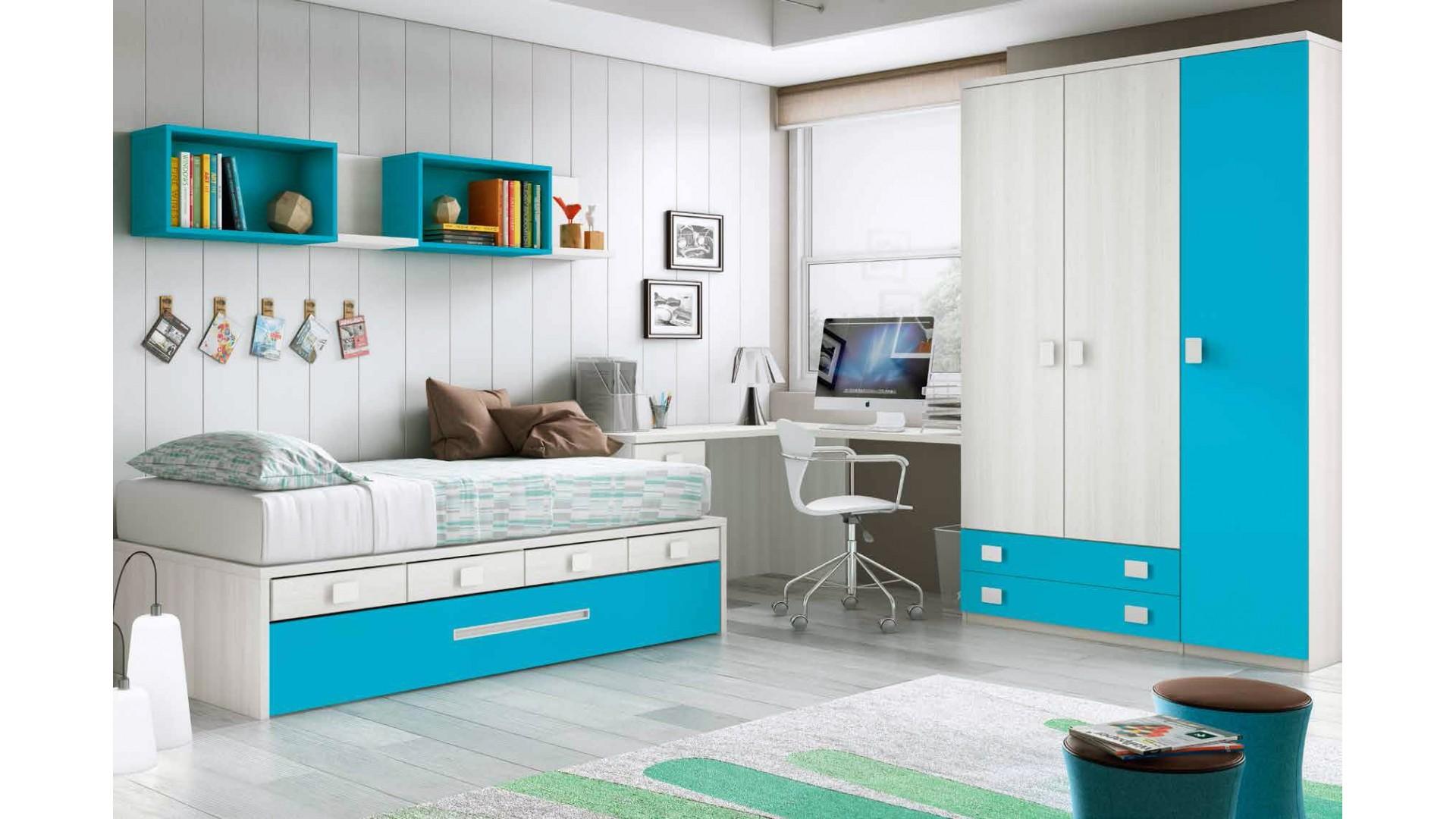 chambre enfant garcon avec lit gigogne personnalisable f070 glicerio