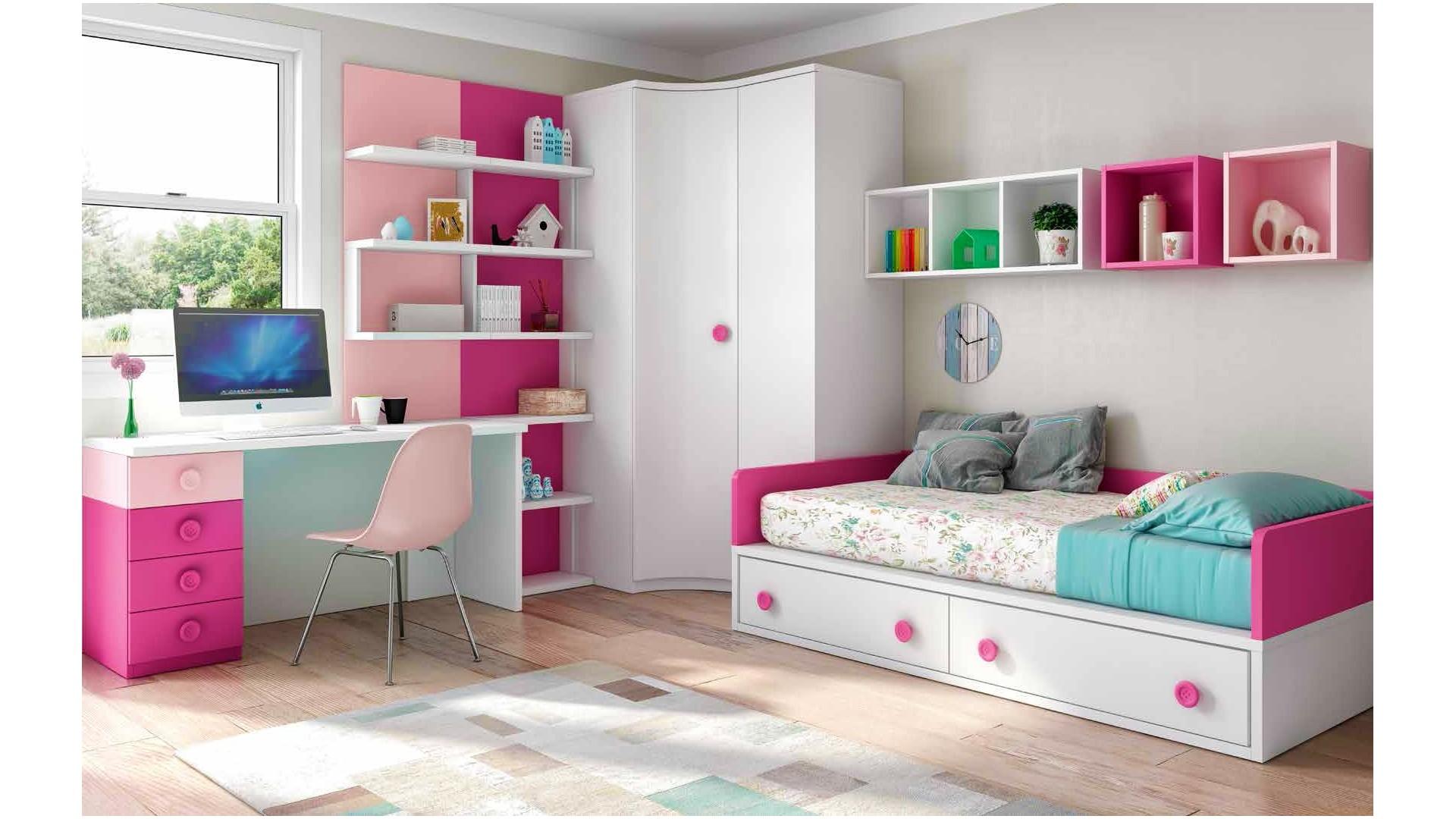 chambre enfant fille avec bureau personnalisable f163 glicerio