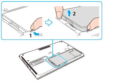 VAIO 電子マニュアル | バッテリーを取り付ける/取りはずす