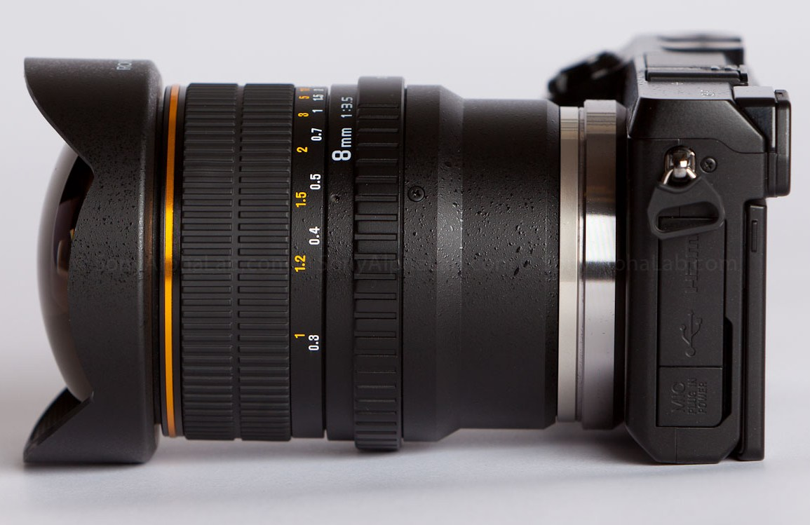 Rokinon E-Mount 8mm f/3.5 Fisheye and Sony Nex-7